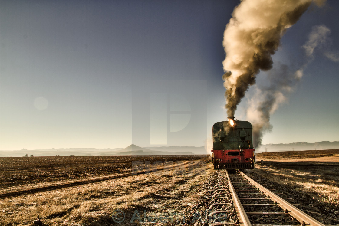 """Journey through nowhere"" stock image"