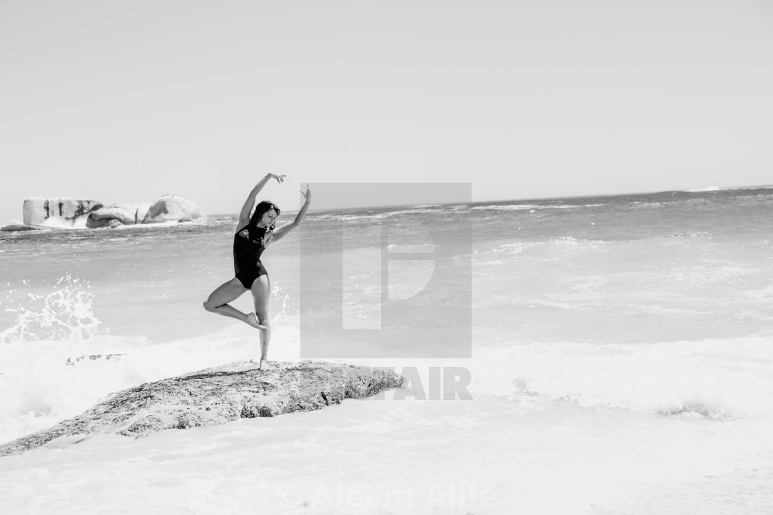 """""""Dancing on the beach"""" stock image"""
