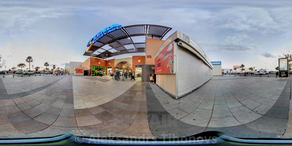 360 Degree Panorama Of La Zenia Boulevard Shopping Centre Spain