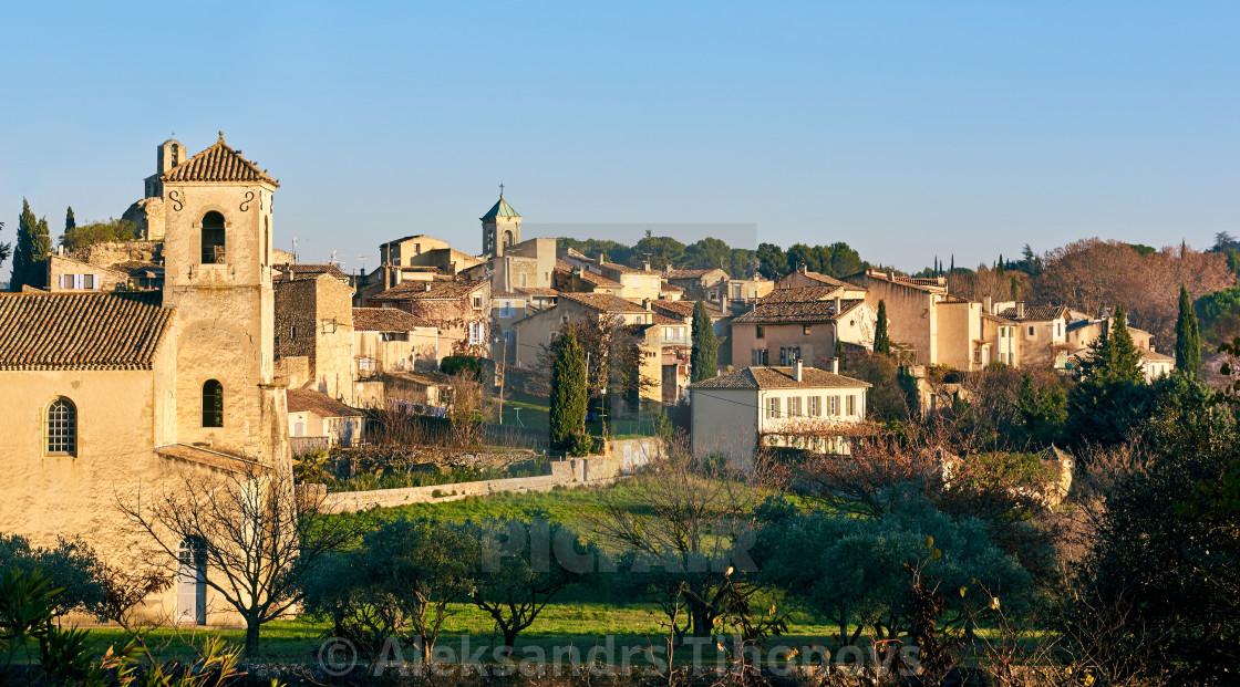 """Village of Lourmarin. France"" stock image"