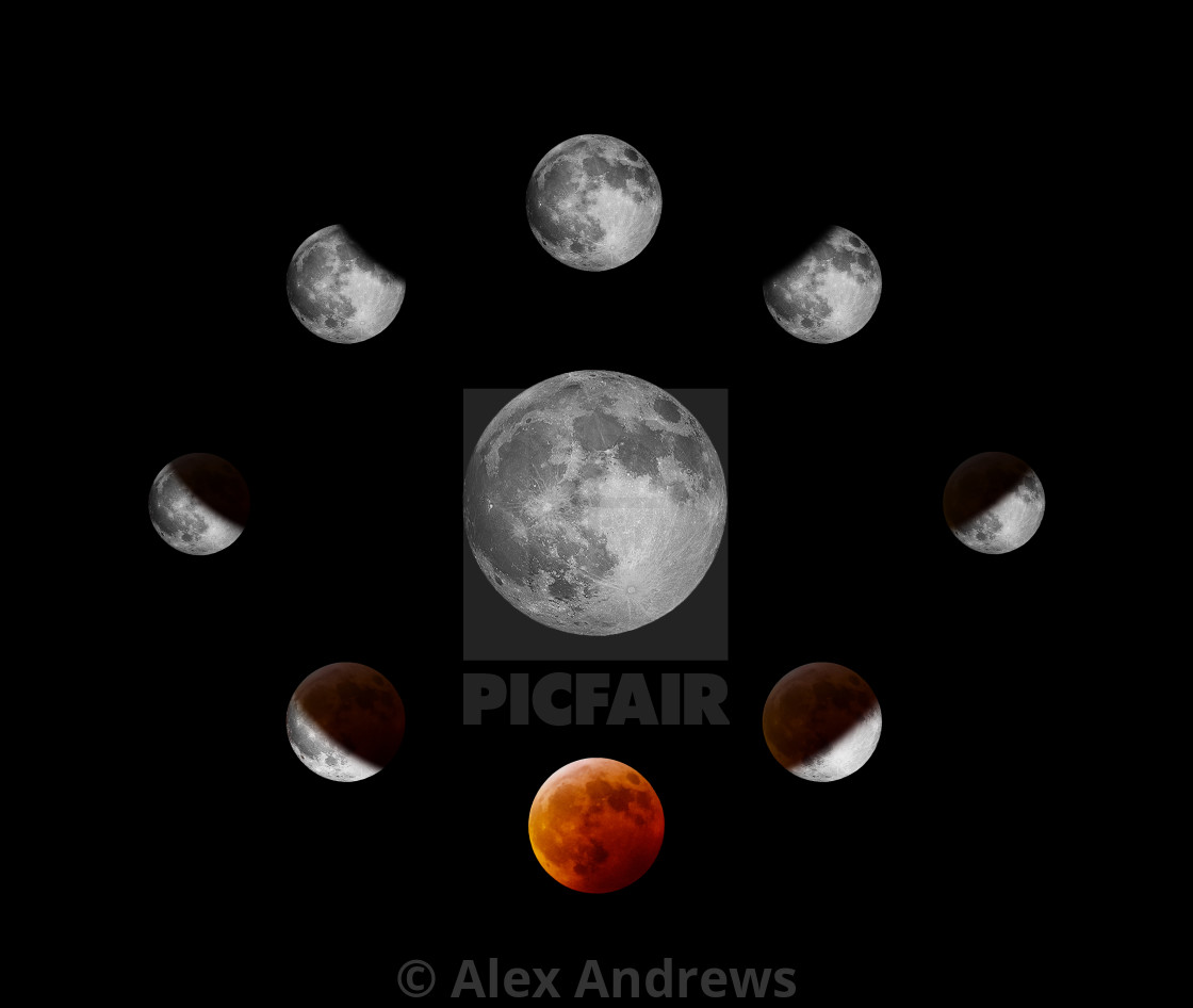 """lunar eclipse"" stock image"
