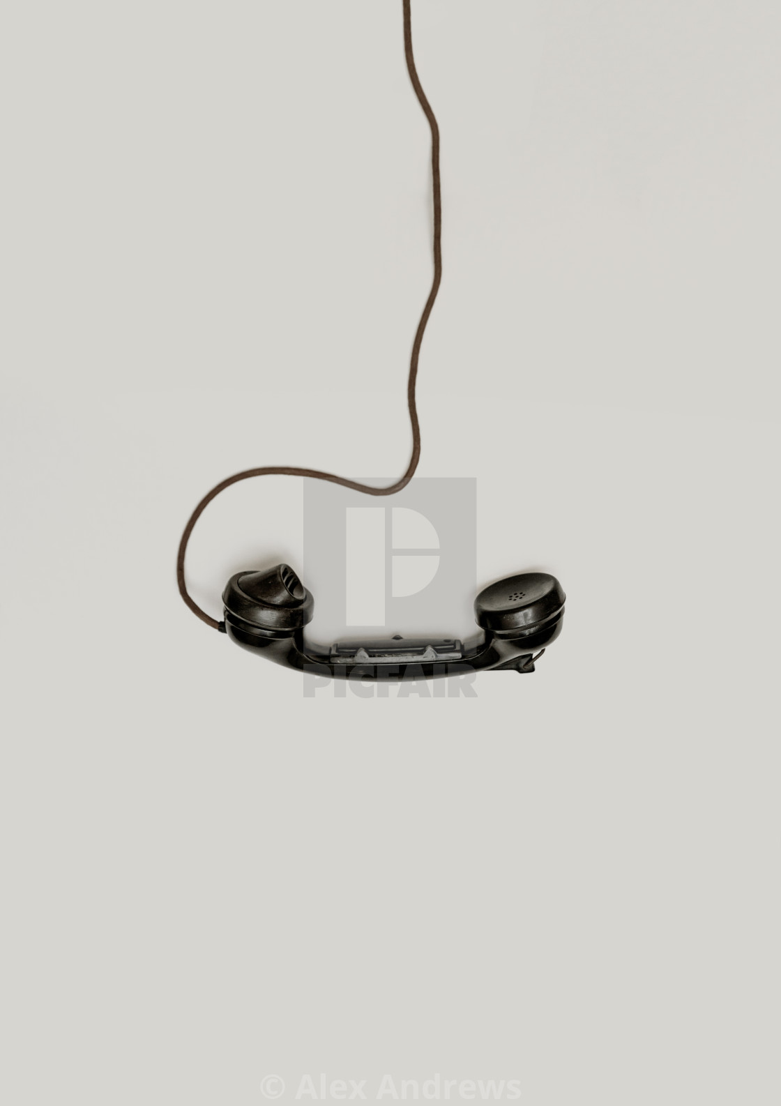 """Vintage phone receiver"" stock image"