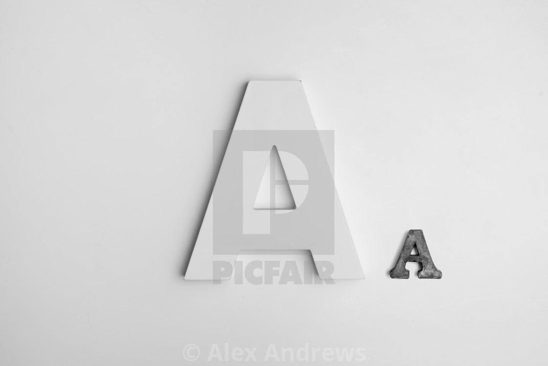 """The letter A"" stock image"
