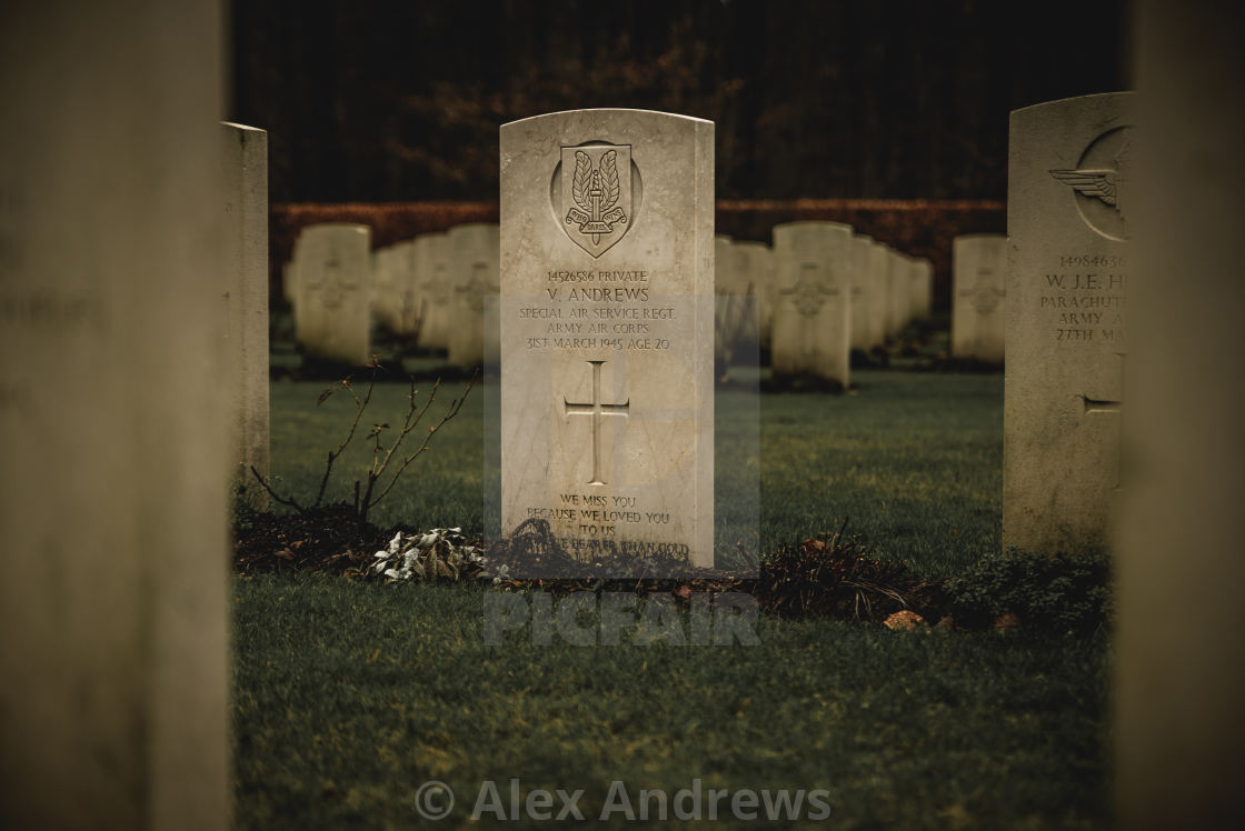 """Soldiers grave"" stock image"