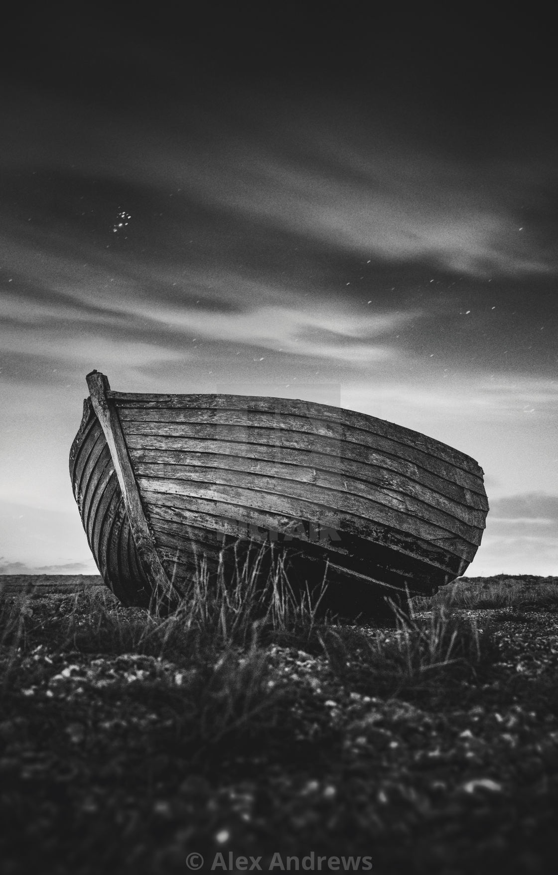 """The Old Fishing Boat"" stock image"