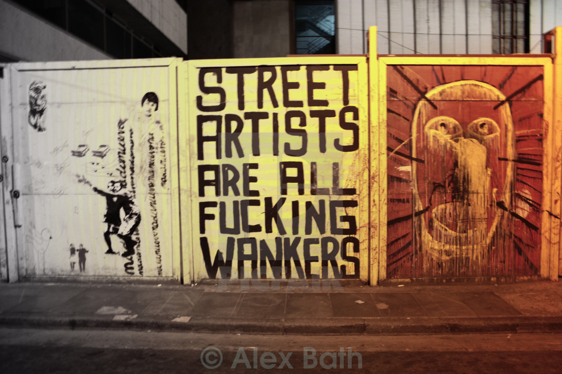 """Street Artists Are All..."" stock image"