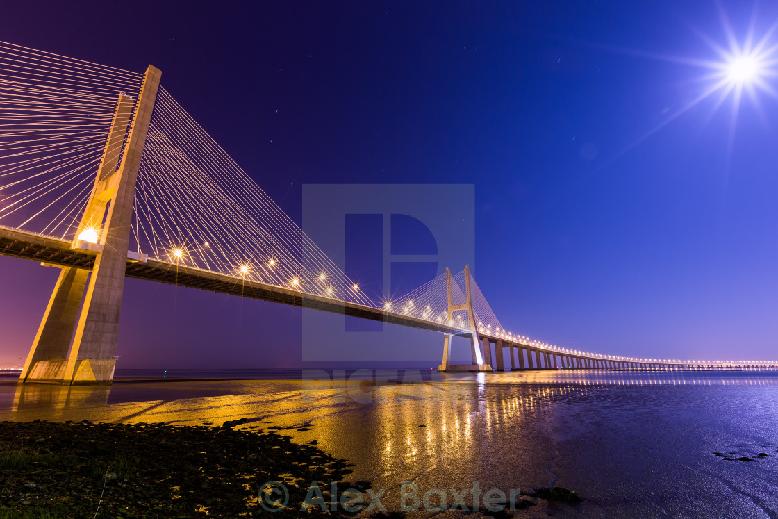 """Vasco Da Gamma Bridge"" stock image"