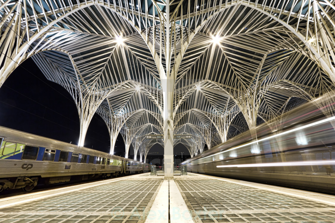 """Gare do Oriente (Oriente Train Station) - Lisbon"" stock image"