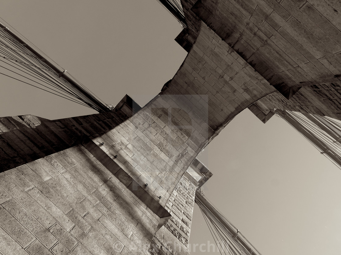 """Brooklyn Bridge Arch"" stock image"