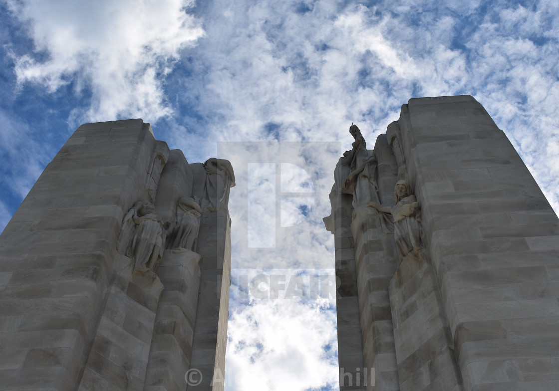 """Vimy Memorial Detail"" stock image"