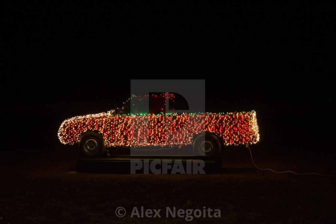 """Electric Lights Car"" stock image"