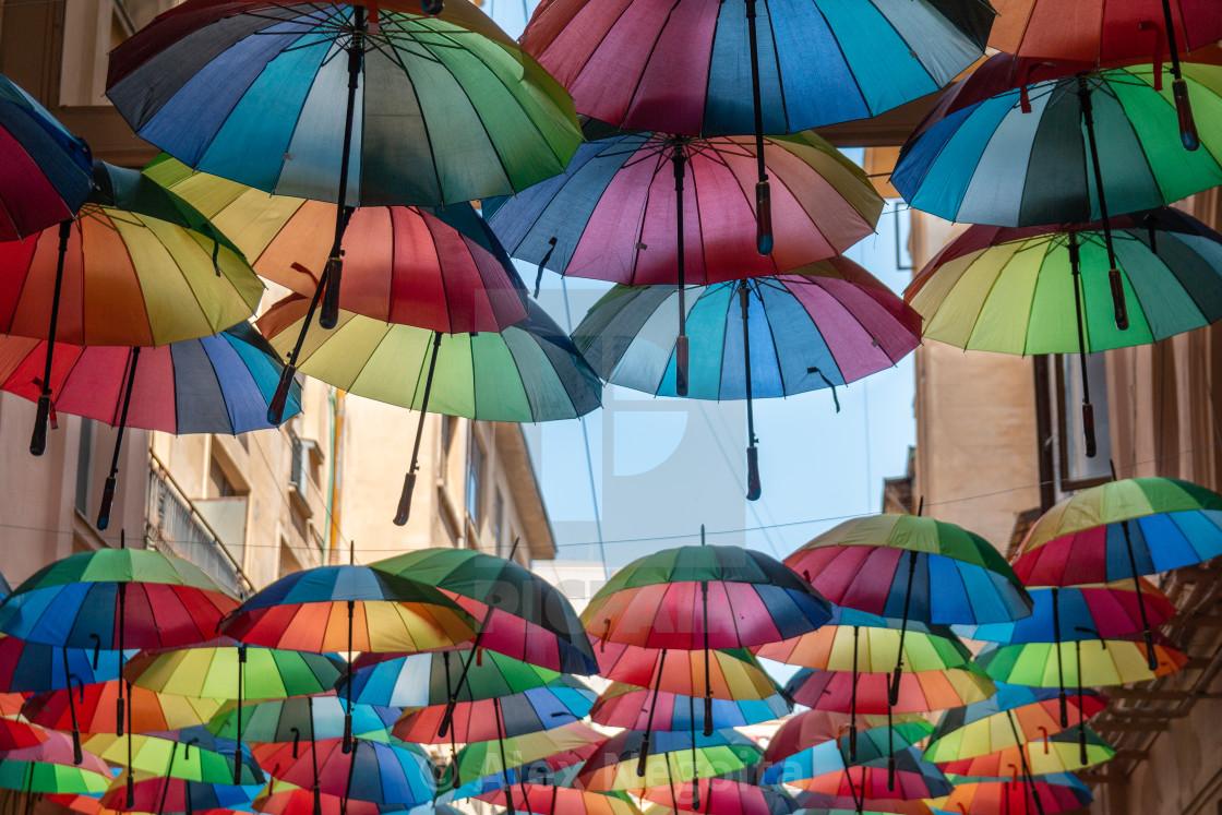 """Colorful Umbrellas"" stock image"