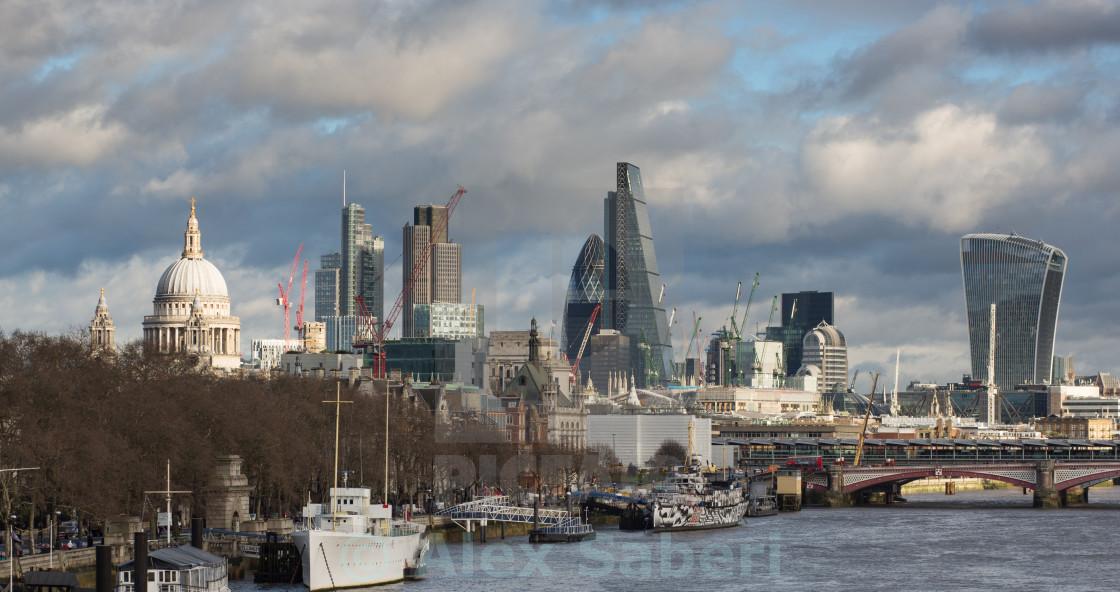 """London city skyline"" stock image"