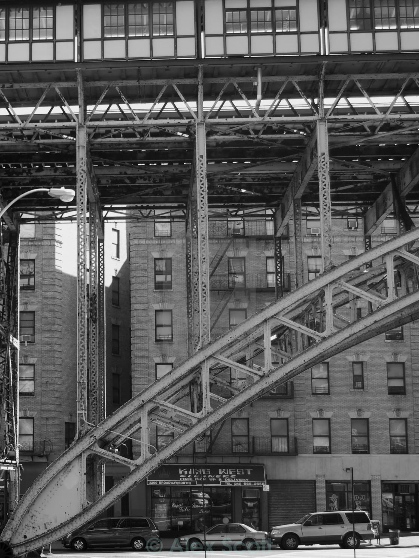 """""""Elevated Station, Harlem"""" stock image"""