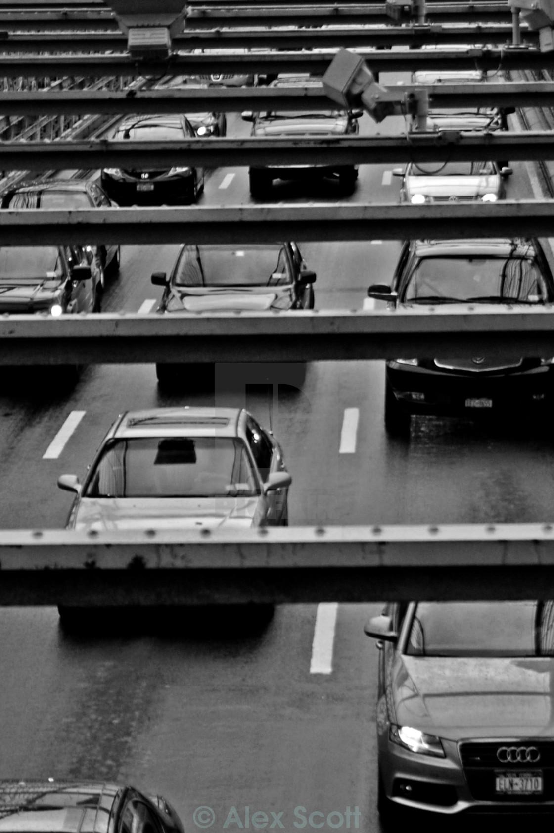 """Brooklyn Bridge Traffic"" stock image"