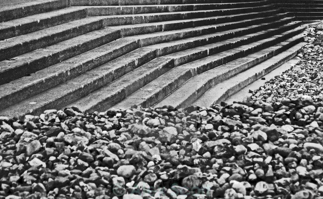 """Pebbles & Steps"" stock image"