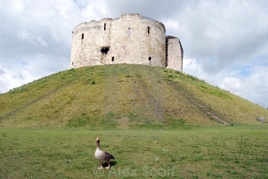 """""""York Castle - Clifford's Tower"""" stock image"""