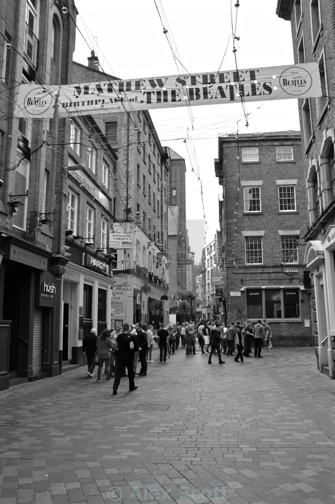 """Mathew Street, Liverpool"" stock image"