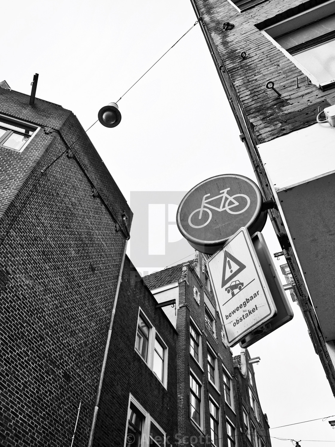 """""""Amsterdam Sky and Signs"""" stock image"""
