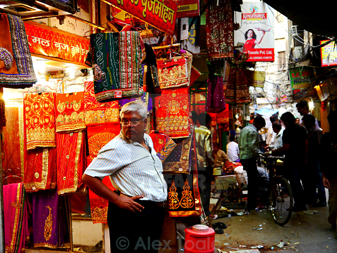 """fabric seller"" stock image"