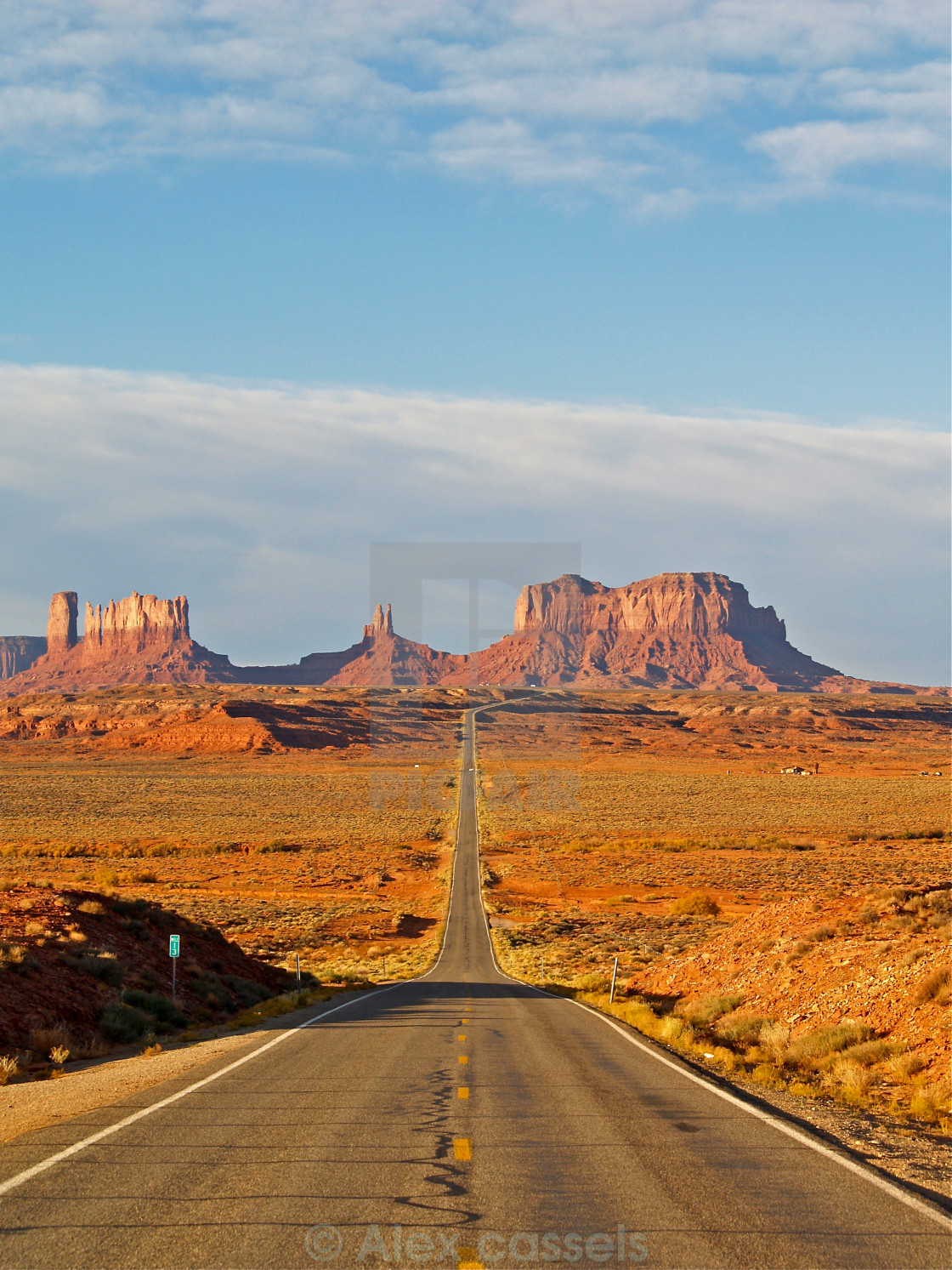 """Highway to Monument Valley"" stock image"