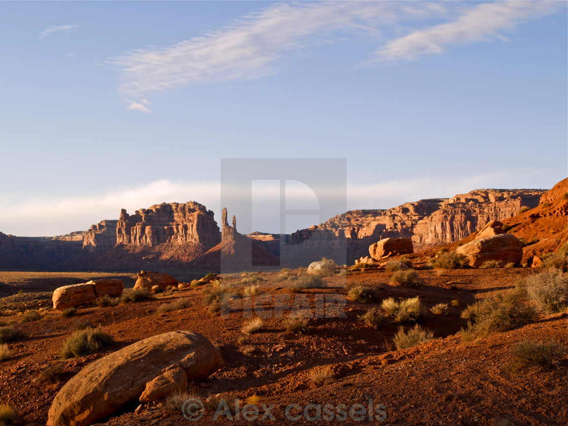 """The Valley of the Gods"" stock image"