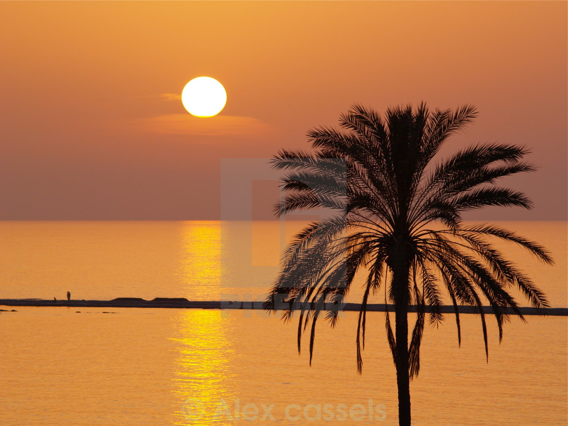 """""""Golden Sunset in Cyprus"""" stock image"""
