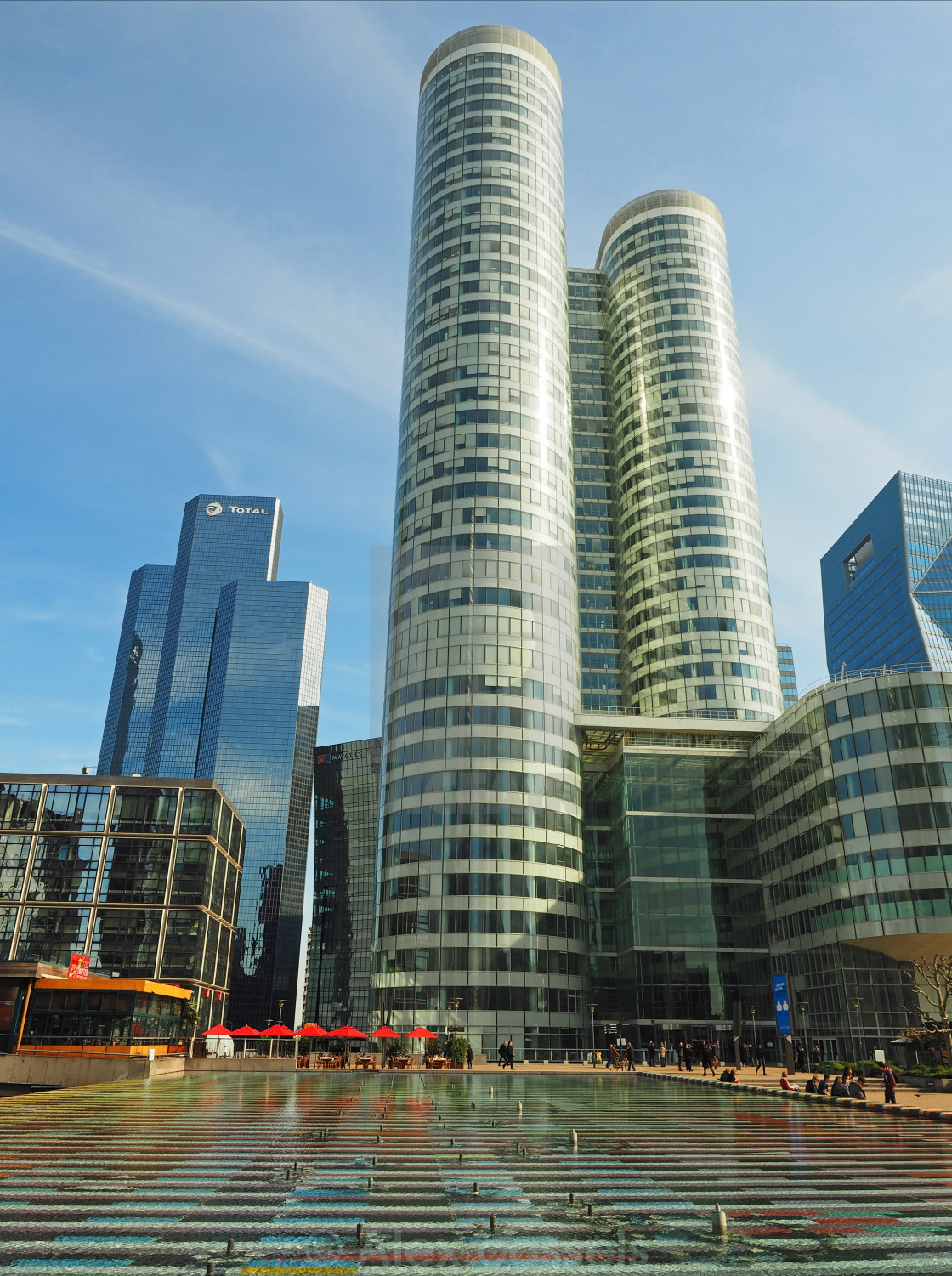 """Towers of La Defense"" stock image"