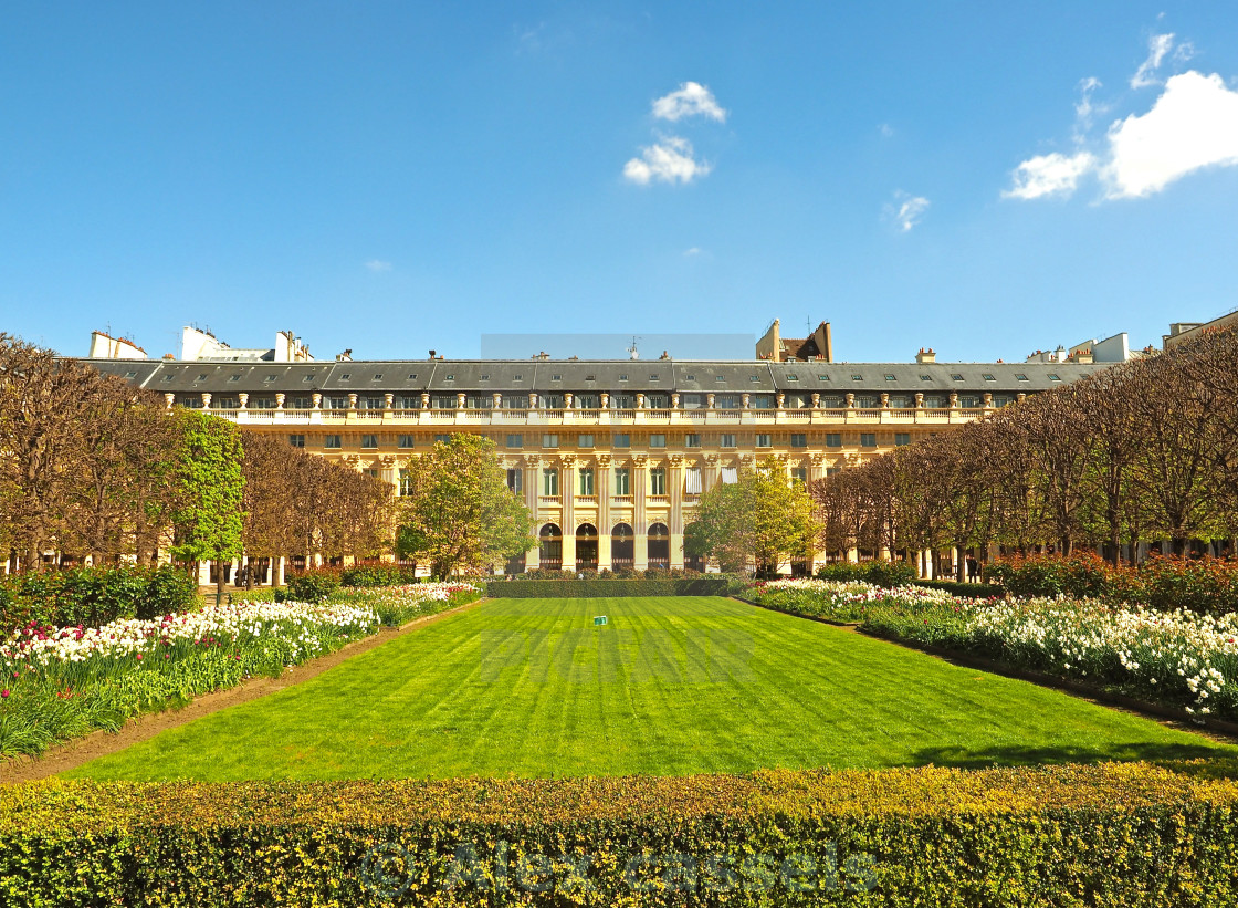 """Palais-Royal Gardens in Paris"" stock image"