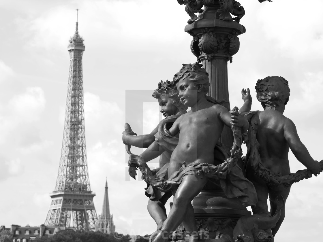 """""""Pont Alexandre III"""" stock image"""