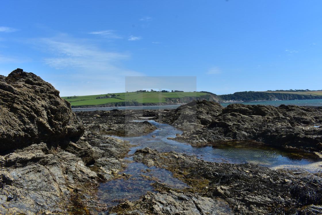 """Cornish Rockpools"" stock image"