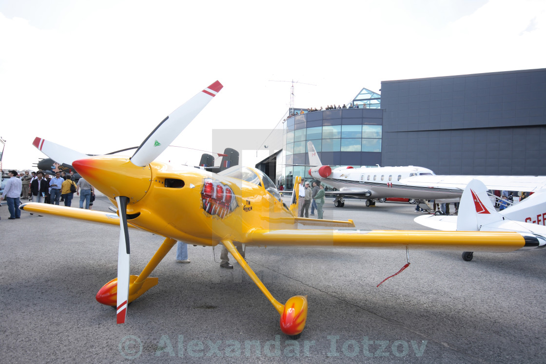 Attractive Light Sport Aerobatic Airplane   Front Side View, Engine With ... Amazing Pictures