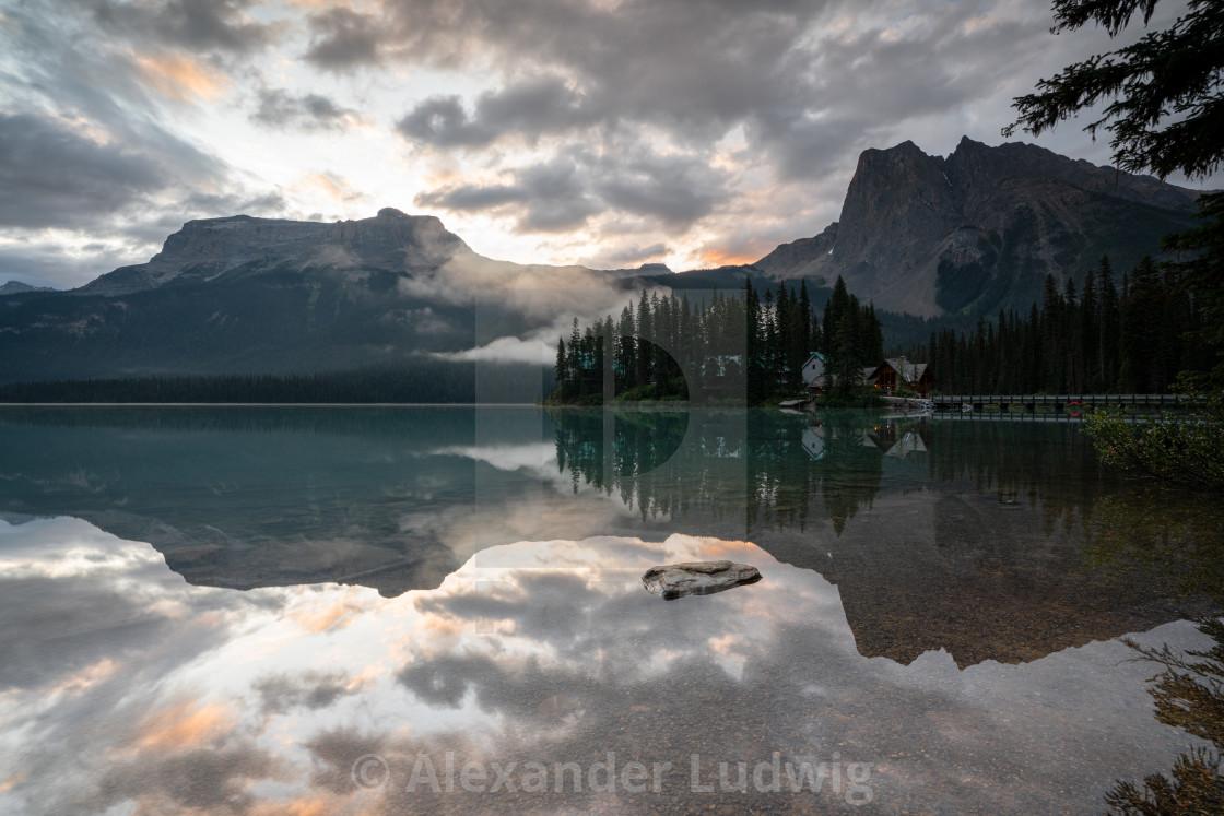 """Emerald lake, Yoho National Park, British Columbia, Canada, Canada"" stock image"