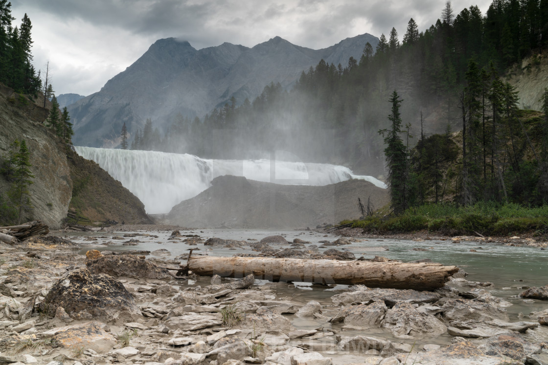 """Wapta Falls, Yoho National Park, British Columbia, Canada"" stock image"