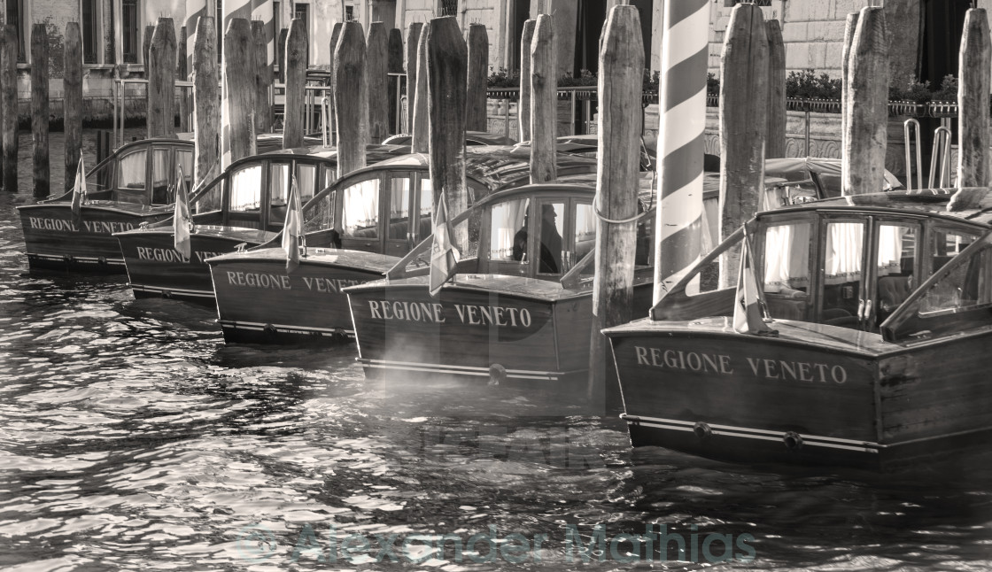 """""""venice taxis"""" stock image"""