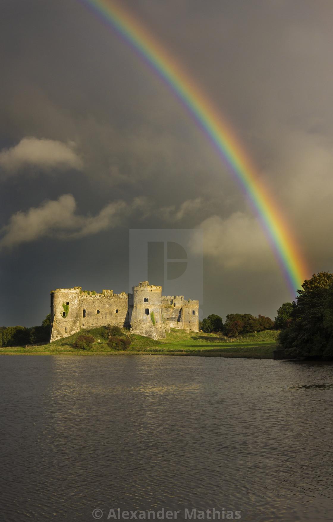 """Castle rainbow"" stock image"