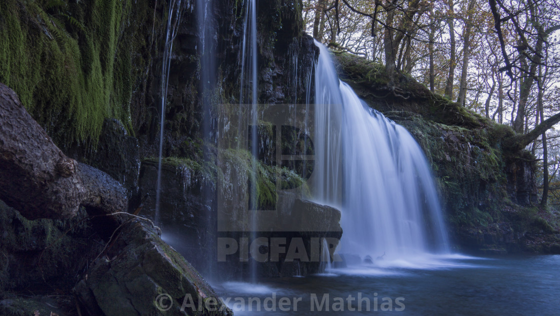 """Welsh waterfalls"" stock image"