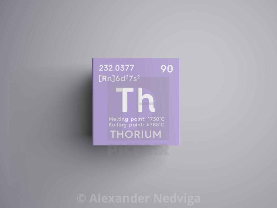 Thorium Actinoids Chemical Element Of Mendeleevs Periodic Table