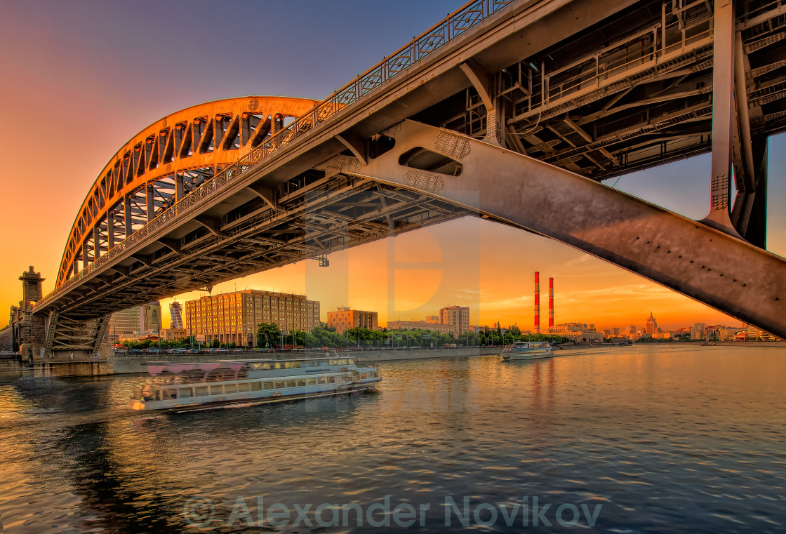 """Sunset in the city"" stock image"
