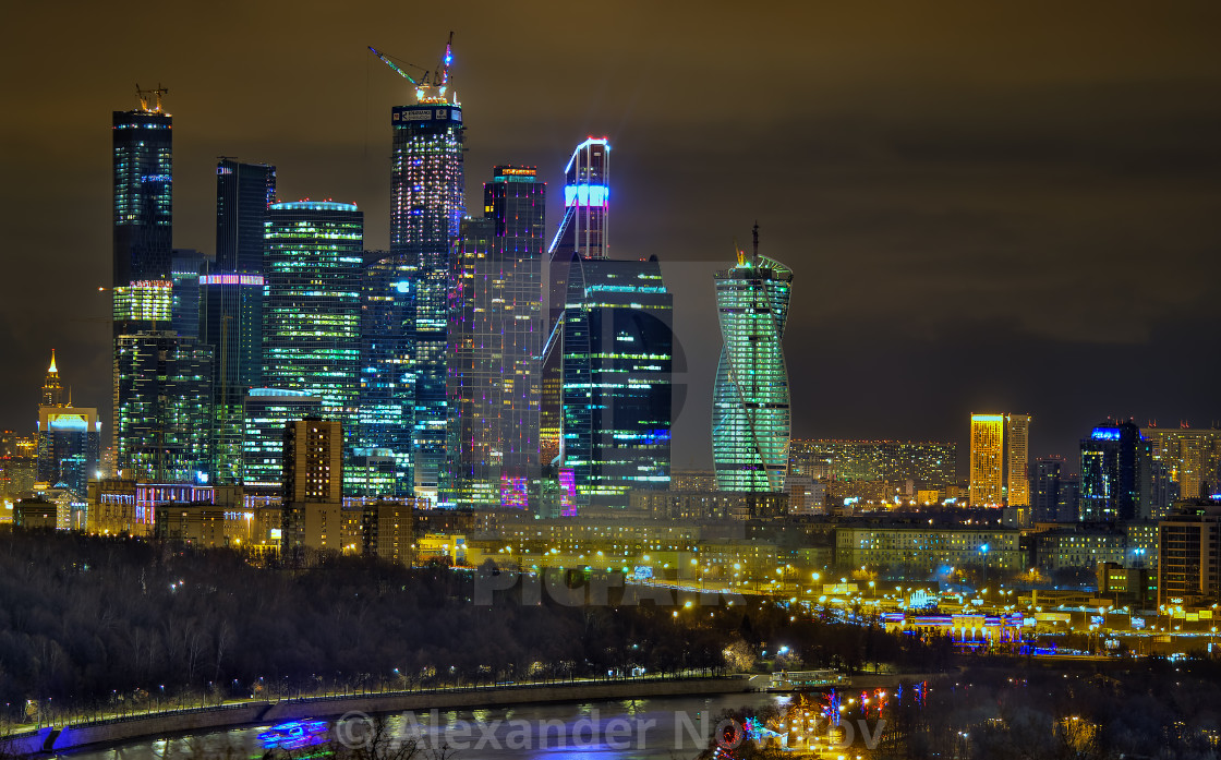"""Night Moscow"" stock image"