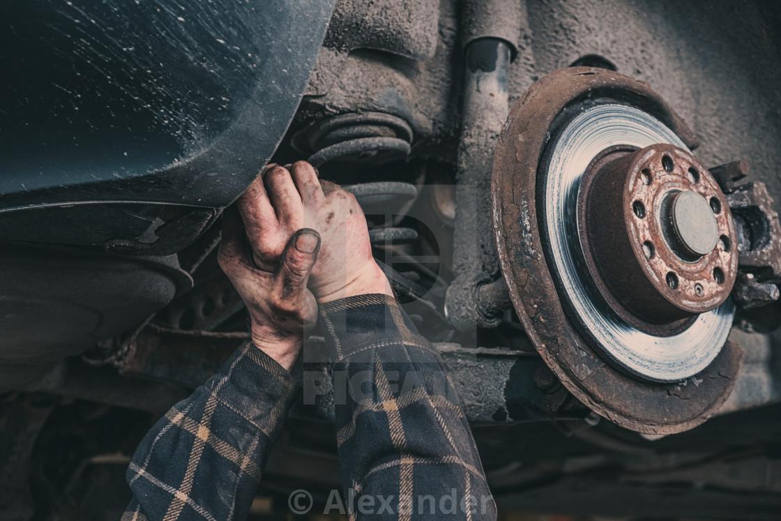 """Car coils repairement"" stock image"