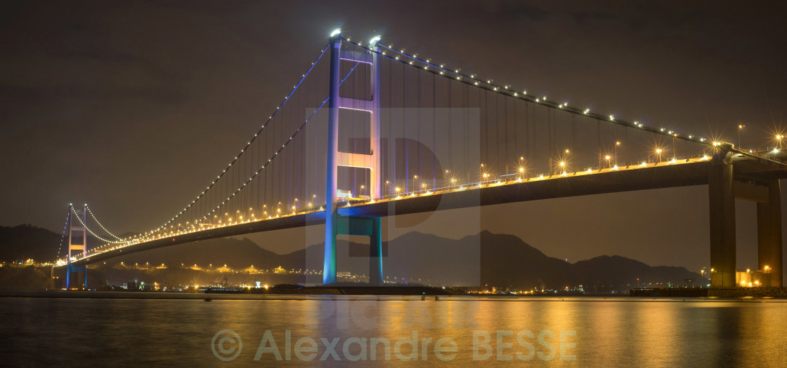 """Tsing Ma bridge - Hong Kong"" stock image"