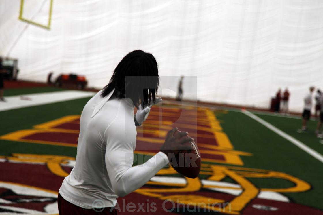 Robert Griffin III QB warmups for Redskins - License