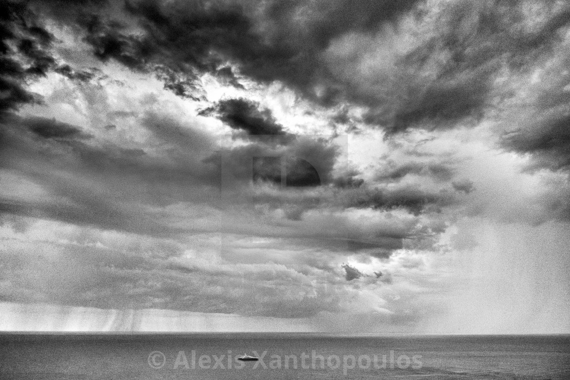 """""""Alone in the storm"""" stock image"""