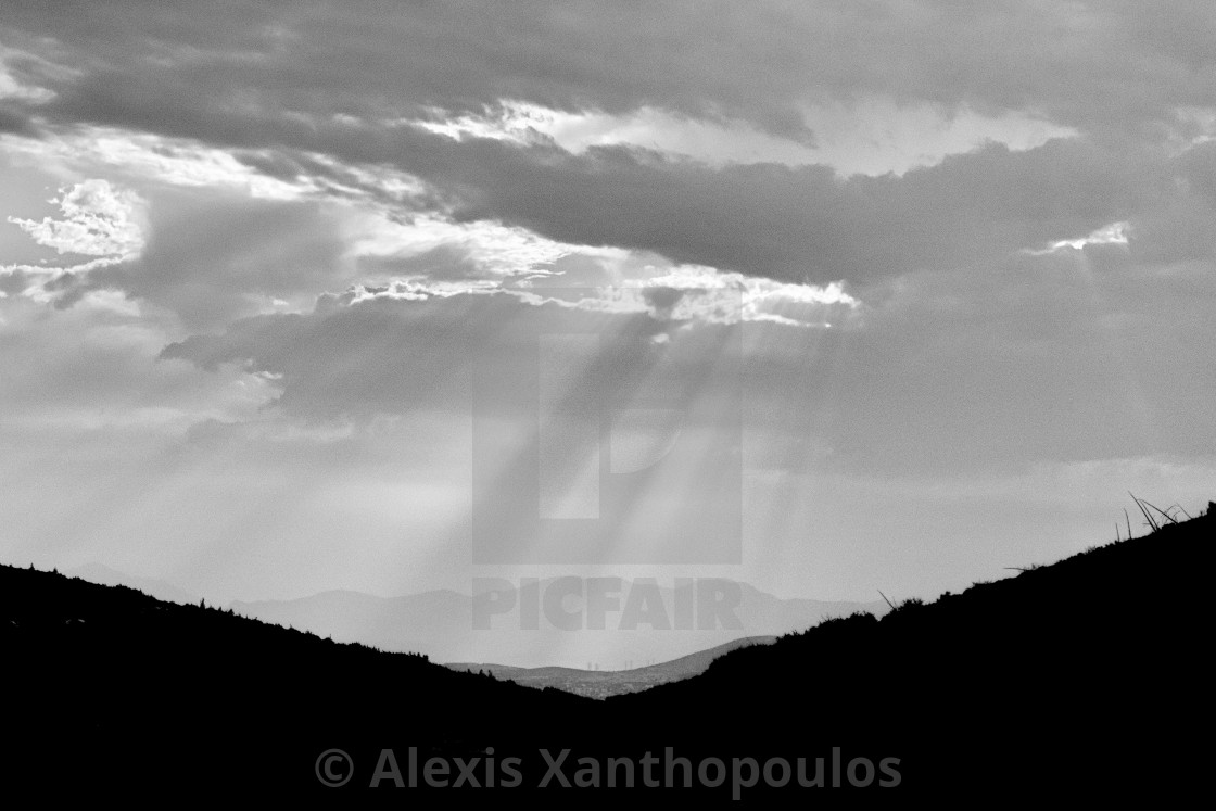 """""""Moutain Sunset"""" stock image"""