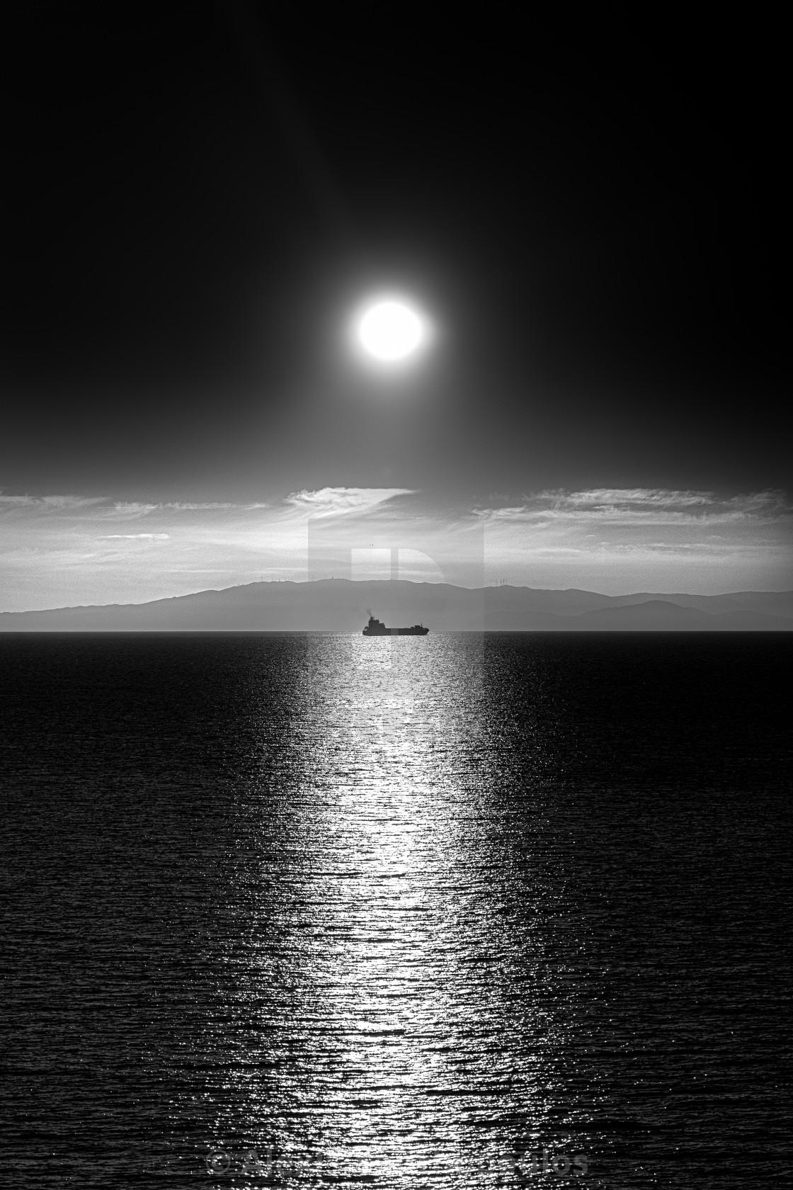 """""""Sunset tanker"""" stock image"""