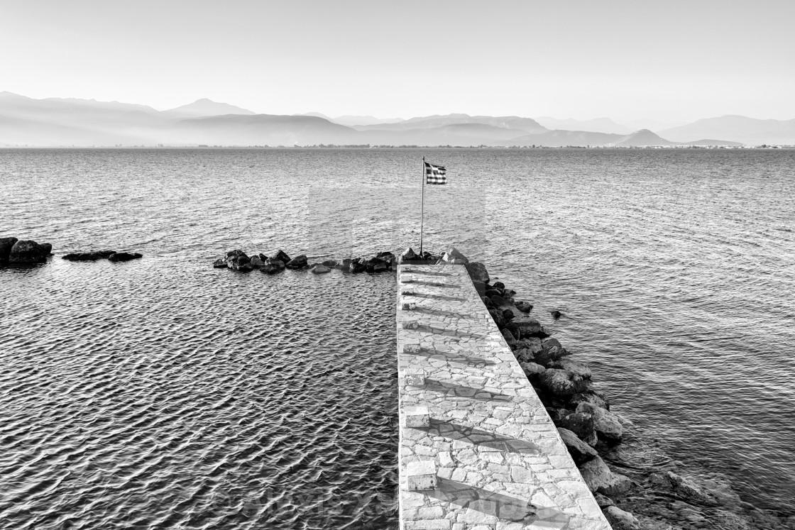 """""""Open air sea swimming pool - Nafplio, Greece"""" stock image"""