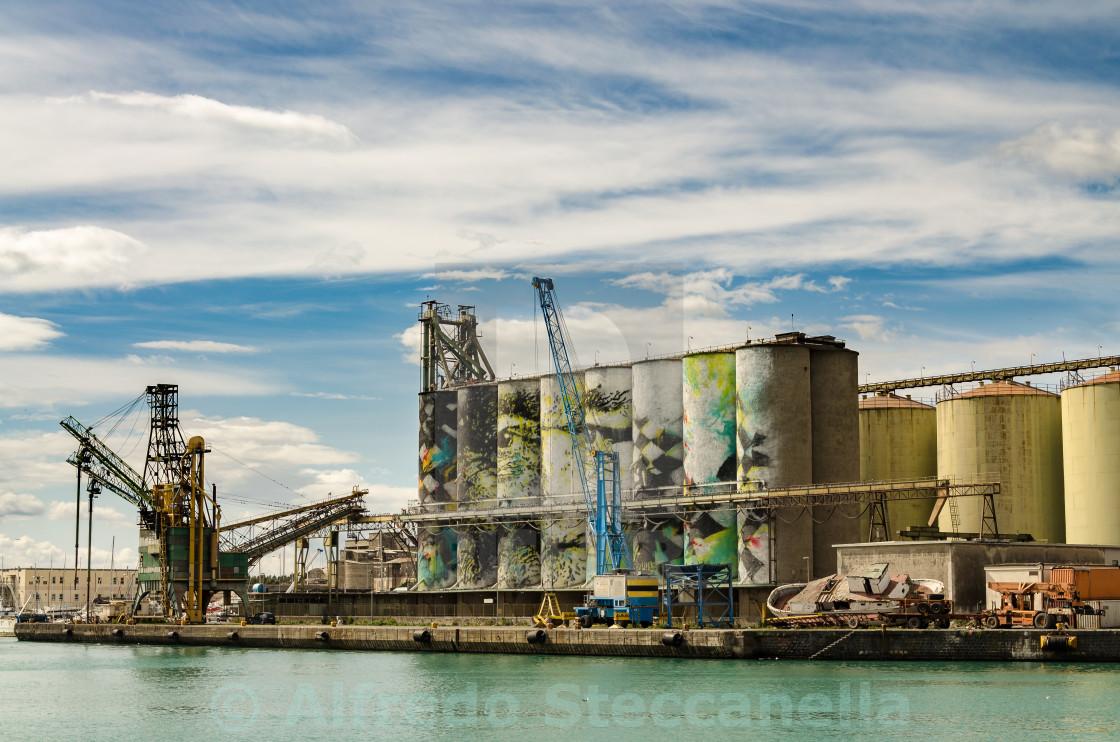 """Grain Silos at Port Catania"" stock image"