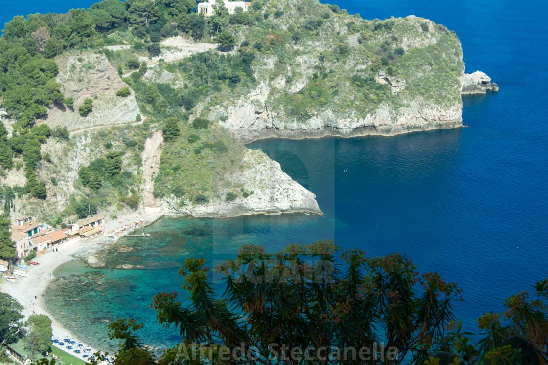 """The Sicilian coast"" stock image"