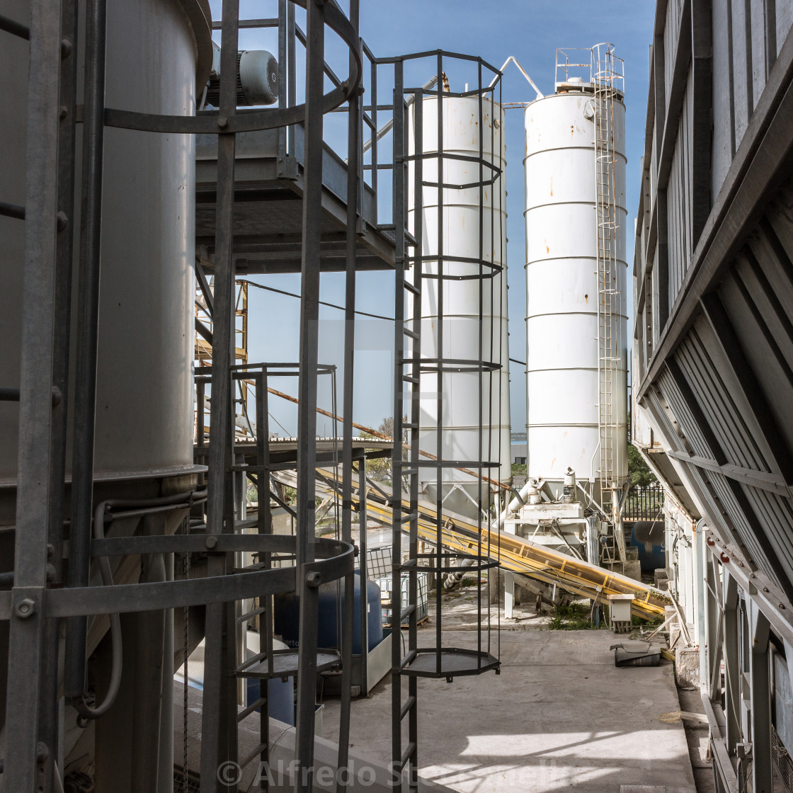 """Silos of storage of cement"" stock image"